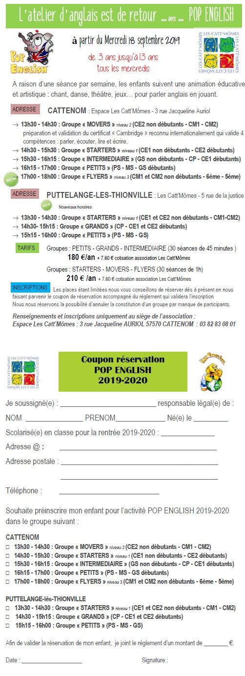 2019 2020 inscription anglais 2019 2020 facebook