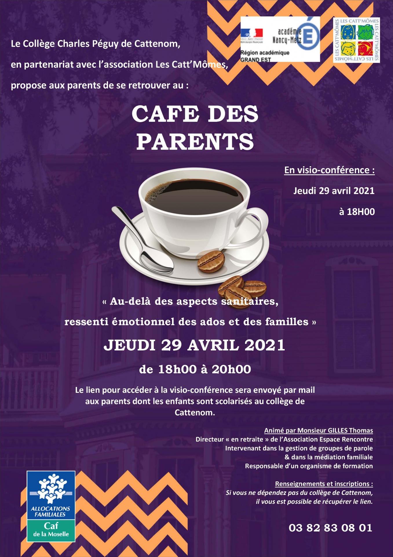Affiche cafe des parents 29 04 21 1