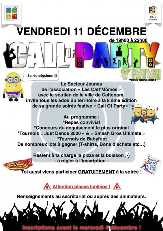 Comm call of party version 8 2020